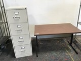 Table,file cabinet