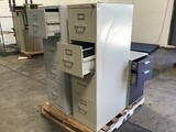 Two file cabinets,small file cabinet
