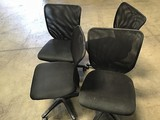 4 Black Office chairs