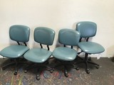 4  blue office chair