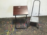 Metal step stool ,small deck