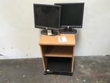 2 Dell  monitors W/ Broadcast  Shell