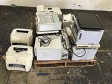 Assorted Printer Pallet With  Monitor and speakers