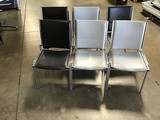 6 chairs black & gray