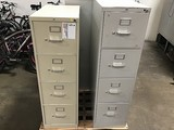 3 office file cabinets