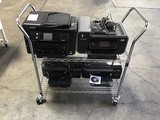 4 Assorted Printer With Metal Cart
