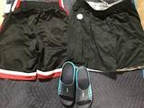 Blue hoka crocs , large sport short, xxl sport short