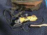 Tool bag with dewalt grinder