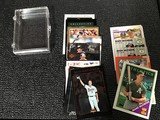Baseball cards with plastic container