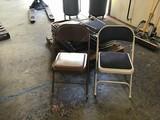 Fifteen assorted banquet folding chairs