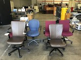 Six assorted office chairs