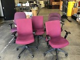 Five assorted office chairs