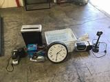 Paper shredder stapler sharpener clock radio  Lamp