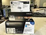 Lexmark toner cartridge and hp Laserjet print cartridge Hp print cartridge,