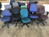 18 assorted office chairs
