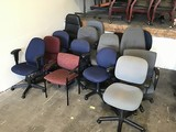 15 assorted office chairs