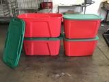 4  Storage tubs