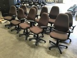 10 brown office chairs