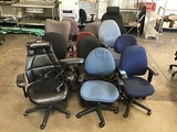 12 assorted office chairs