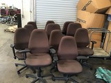 11 brown office chairs