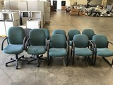 10 green office chairs