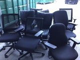 9  Office black chairs