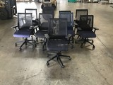Nine assorted office chairs