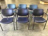 150lb Six blue lobby chairs