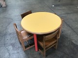 Children's wood table with four chairs