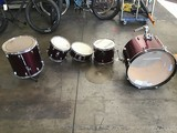 Burgundy drum set