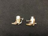Stone cowboy boot cuff link