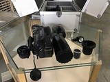 Panasonic digital video camera with lens and case