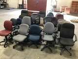 25 assorted office chairs