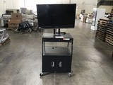 Sharp tv (parts) with black metal tv cart