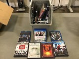 Assorted blue ray dvd's and dvd's (Box not included)