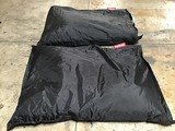 Two black fatboy beanbags