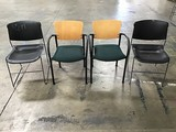Four assorted lobby chairs