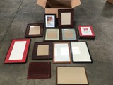 Fourteen assorted size picture frames