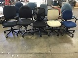 Ten assorted office chairs