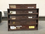 1 four drawer part storage unit