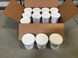 Twelve containers of pipe joint lubricant