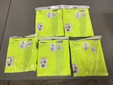 Four XL safety vests with one L safety vest