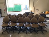 Nineteen office chairs