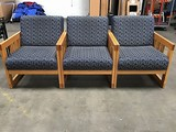 Three lounge chairs