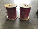 Two rolls of 1000ft each red coated copper wiring