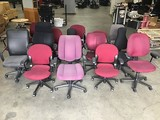 Fifteen assorted office chairs