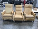 Three reclining chairs