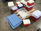 Coolers , plastic storage containers