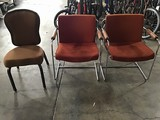 Two Art Deco office chairs with office chair