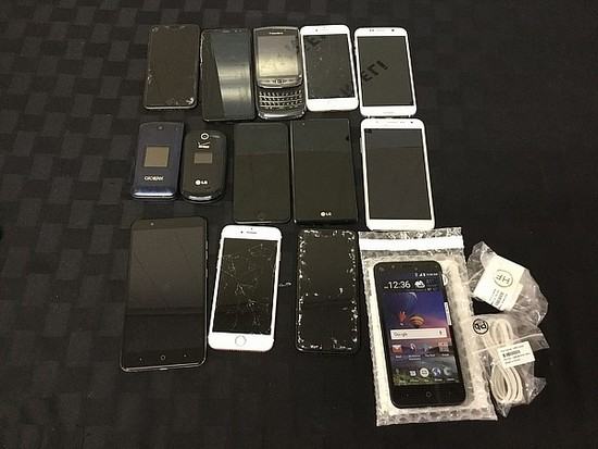 cell phones,Zte, IPhones, Samsung, blackberry possibly locked